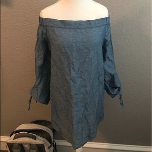 Denim free people tunic